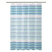 Bath Bliss Shower Curtain, Blue & Green Dot Design (5383)