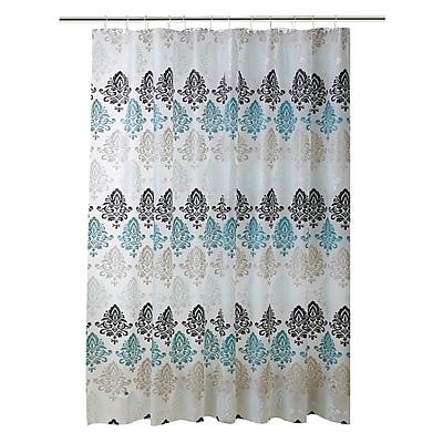 Bath Bliss Shower Curtain, Paisley Design (5387)
