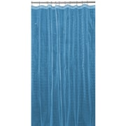 Bath Bliss Shower Curtain, 3D Octagon Design, Blue (5408-LBLUE)