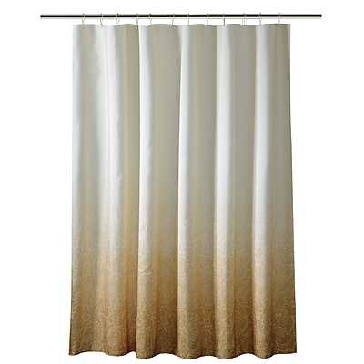 Bath Bliss Shower Curtain, Lace Ombre, Gold (5406-GOLD)