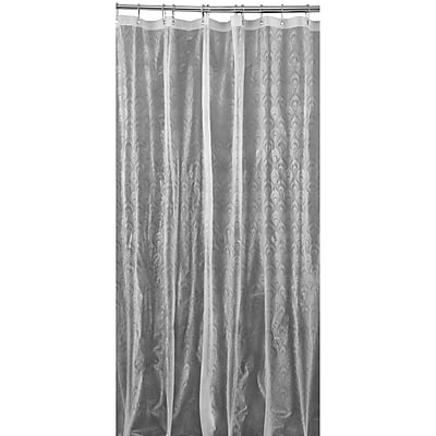 Bath Bliss Shower Curtain, 3D Peacock Design, Clear (5407-CLEAR)