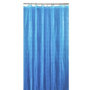 Bath Bliss Shower Curtain, 3D Peacock Design, Blue (5407-LBLUE)