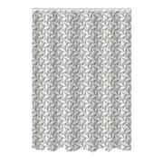 Bath Bliss Shower Curtain, Bamboo Jacquard, Pinwheel Design (25882)