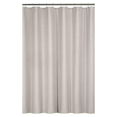 Bath Bliss Shower Curtain, Waffle Weave, Taupe (25871-TAUPE)