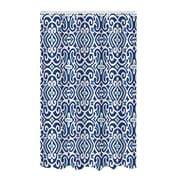 Bath Bliss Shower Curtain, Bamboo Jacquard, Royal Navy Design (25881)