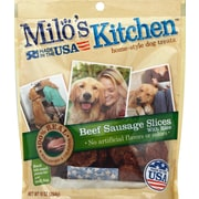 Milo's Kitchen Beef Sausage Slices with Rice Dog Teats, 10 oz. Pouch (SMU52775CS)