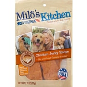 Milo's Kitchen Chicken Jerky Recipe Dog Treats, 2.7 Ounce Bag (SMU51921CS)