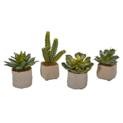 Nearly Natural Mixed Succulent Artificial Plant (Set of 4) (4228-S4)