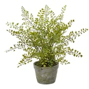 Nearly Natural Maiden Hair Artificial Plant in Decorative Planter (4251)
