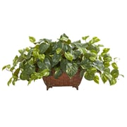 Nearly Natural Pothos Artificial Plant in Metal Planter (6460)