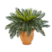 Nearly Natural Cycas Artificial Plant in Terracotta Planter (6464)