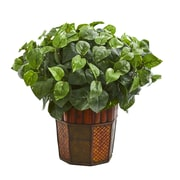 Nearly Natural Pothos Artificial Plant in Decorative Planter (6465)