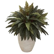 Nearly Natural Peacock Artificial Plant in Sand Colored Oval Planter (6494)
