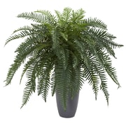 Nearly Natural River Fern Artificial Plant in Cylinder Planter (6495)