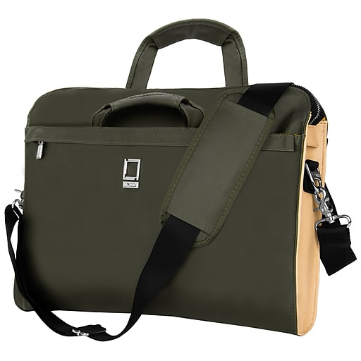 463a71ca6fb5 Lencca Messenger Bag Notebook Case fits 15.6 Inch Laptop, Forest Green  (PT_LENLEA122_13)