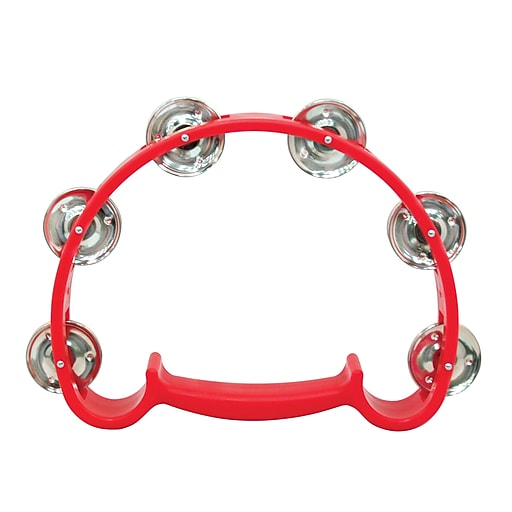 "Westco Handy Tambourine, 9"", Red"