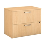 "Bush Business Furniture 400 Series 36""W 2 Drawer Lateral File Cabinet, Natural Maple, Installed (400SFL236ACKFA)"