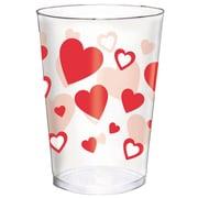 Amscan Valentine's Day Tumblers, 10 oz., Plastic, 2/Pack, 30 Per Pack (350050)