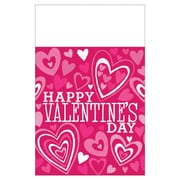 "Amscan Valentine Party Tablecover, 54"" x 102"", Plastic, 3/Pack (571448)"