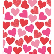 "Amscan Key To Your Heart Tablecover, 54"" x 102"", Plastic, 3/Pack (579618)"