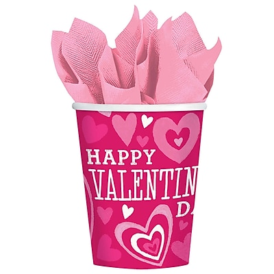 Amscan Valentine Party Cup, 9oz., Paper, 3/Pack, 18 Per Pack (7314481) 24300748