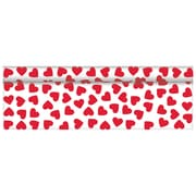 "Amscan Valentine's Day Red Hearts Printed Table Roll, 40"" x 100', Plastic (770012)"