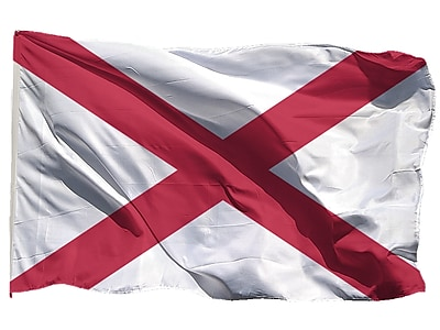 U.S. Flag Store Alabama State Flag, 3' x 5', Nylon (64-100-10000)