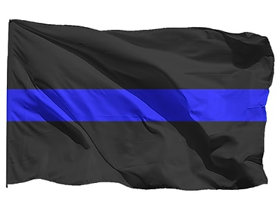 U.S. Flag Store U.S. Blue Line Flag, 3' x 5', Nylon (60-100-31760)