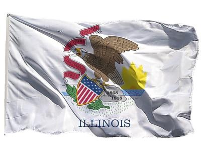 U.S. Flag Store Illinois State Flag, 3' x 5', Nylon (64-100-10026)