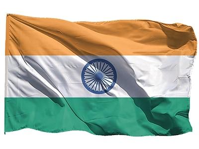 U.S. Flag Store India World Flag, 3' x 5', Nylon (60-100-70170)