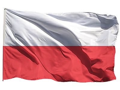 U.S. Flag Store Poland World Flag, 3' x 5', Nylon (60-100-70296)