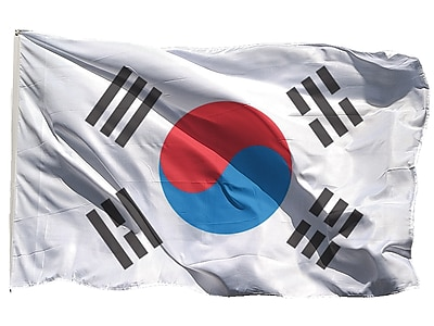 U.S. Flag Store South Korea World Flag, 3' x 5', Nylon (60-100-70336)