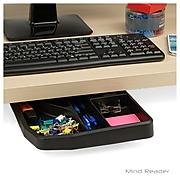 EMS Mind Reader Under Desk Sliding Compartment Organizer, Black (UDSO-BLK)