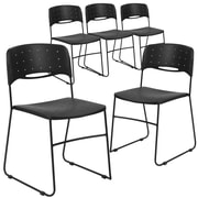 Flash Furniture Hercules Series Plastic Stack Chair Vented, 5/Pack