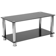 Flash Furniture Riverside Collection Coffee Table, Black/Stainless Steel (HG112347)