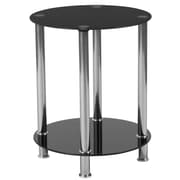 Flash Furniture Riverside Collection End Table, Black/Stainless Steel (HG112348)