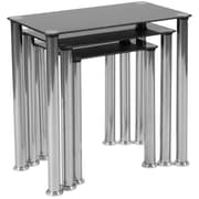 Flash Furniture Riverside Collection Nesting Table, Black/Stainless Steel (HG112349)