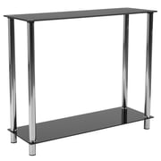 Flash Furniture Riverside Collection Console Table, Black/Stainless Steel (HG112350)