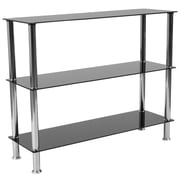 "Flash Furniture Riverside Collection 28"" Storage Shelf, Black/Stainless Steel (HG112354)"