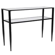 Flash Furniture Newport Collection Console Table, Clear/Black (HG160334)