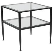 Flash Furniture Newport Collection End Table, Clear/Black (HG160913)