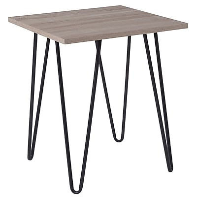 Flash Furniture Oak Park Collection End Table, Driftwood (NANJH1703)