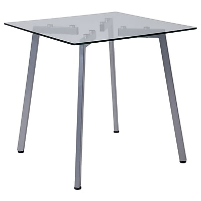 Flash Furniture Roxbury Collection End Table, Clear/Silver (NANJH1721ET)