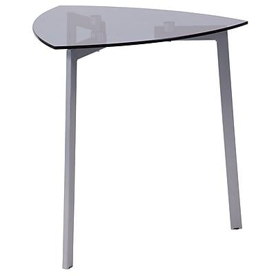 Flash Furniture Brighton Collection Triangle Table, Smoke/Silver (NANJH1722)
