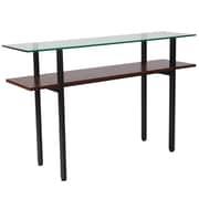Flash Furniture HERCULES Series Console Table, Clear/Black (NANJH1742)