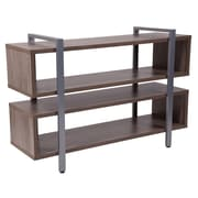 Flash Furniture Harrison Rustic Wood Grain Finish TV Stand and Media Console (NAN-JH-1756-GG)