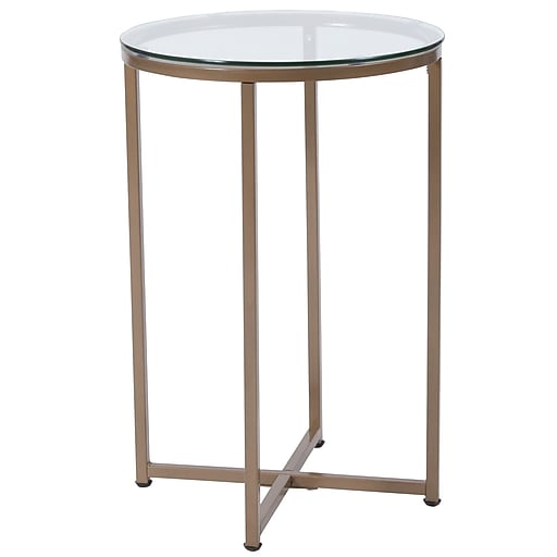Flash Furniture Greenwich Collection End Table, Clear/Matte Gold (NANJH1786ET)
