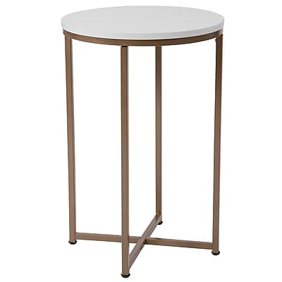 Flash Furniture HERCULES Series End Table, White (NANJH1787ET)
