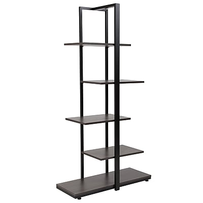 Flash Furniture Homewood Collection 30inch 5-Tier Shelf, Driftwood (NANJN21706B)