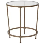 Flash Furniture Astoria Collection End Table, Clear/Matte Gold (NANJN21750ET)